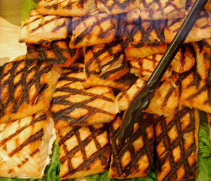 salmon with grill marks